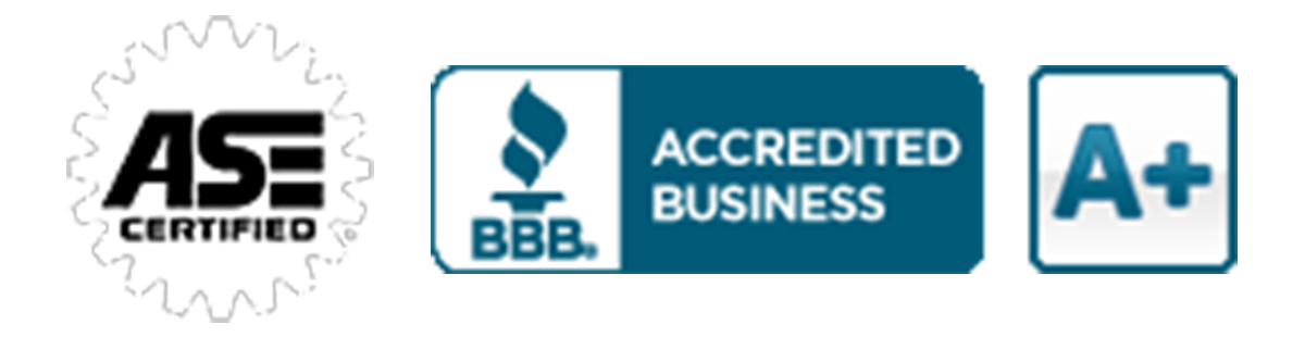 Better Business Bureau A+ Rating and ASE Certified Logo